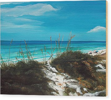 Seagrove Beach Florida Wood Print by Racquel Morgan