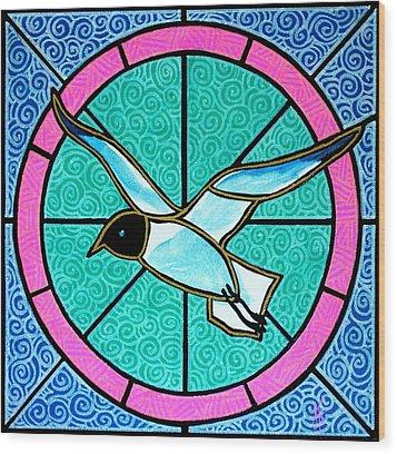 Seagull 4 Wood Print by Jim Harris