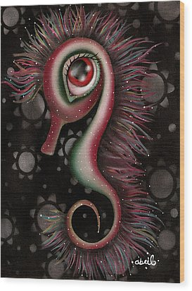 Seahorse Wood Print by  Abril Andrade Griffith