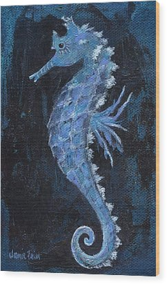 Wood Print featuring the painting Seahorse by Jamie Frier