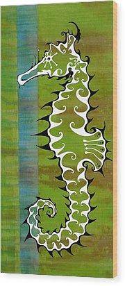 Seahorse Wood Print by John Benko