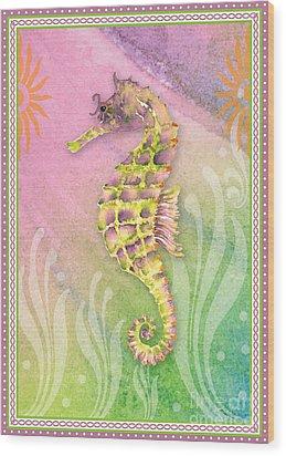 Seahorse Violet Wood Print