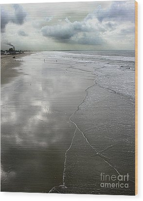 Seal Beach Morning Wood Print