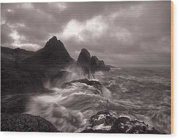Seal Rock Thunder Wood Print