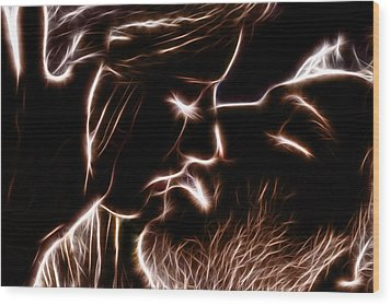 Wood Print featuring the digital art Sealed With A Kiss by Stephen Younts