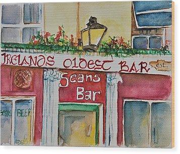 Seans Irish Pub Wood Print