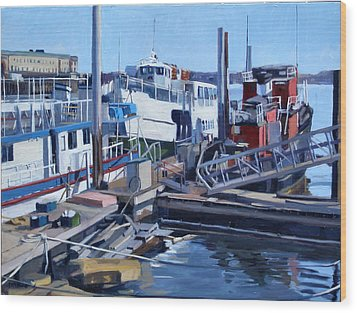 Seaport Ave Wood Print by Deb Putnam