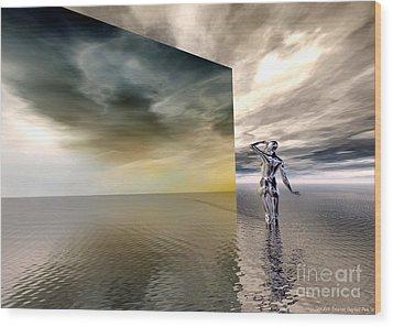 Searching Wood Print by Sandra Bauser Digital Art
