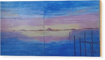 Seascape 7 Wood Print by Judi Goodwin