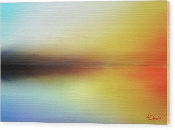 Seascape Wood Print by Ahmed Darwish