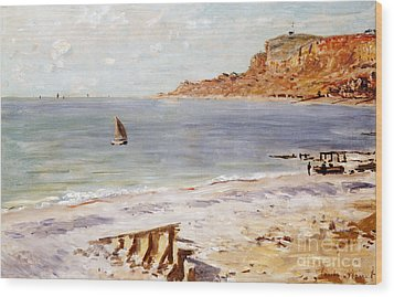 Seascape At Sainte Adresse  Wood Print