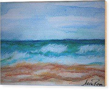 Seascape I Wood Print by Neva Rossi