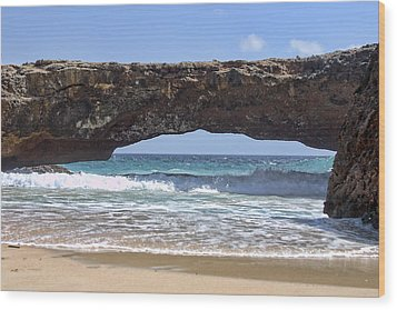 Seascape Land Bridge Wood Print