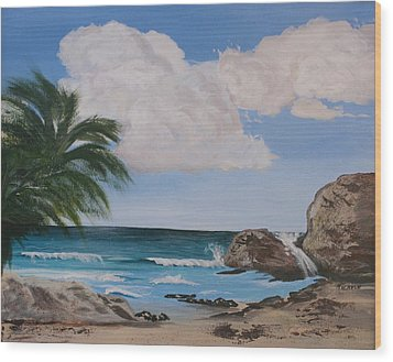Seascape Wood Print
