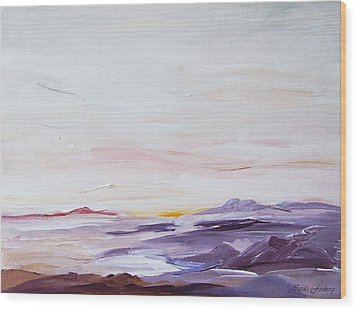 Seascape Nr 1 Wood Print by Carola Ann-Margret Forsberg