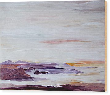 Seascape Nr 2 Wood Print by Carola Ann-Margret Forsberg