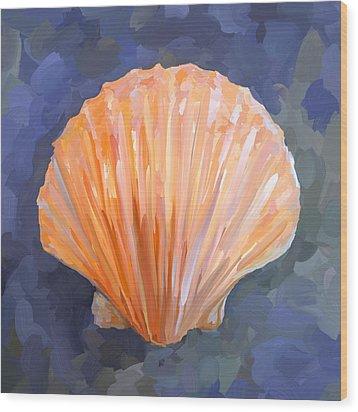 Seashell I Wood Print by Jai Johnson