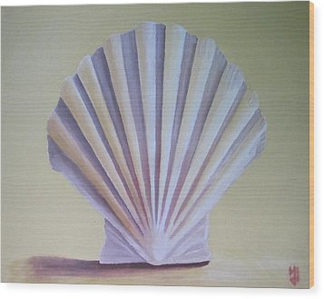 Seashell II Wood Print by Michael Holmes
