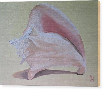 Seashell Wood Print by Michael Holmes