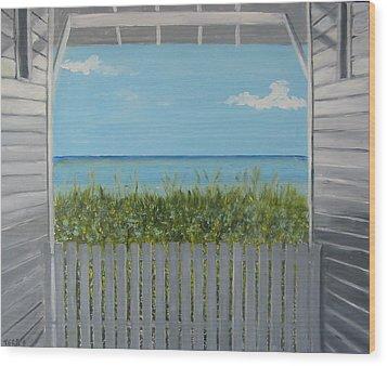 Seaside Wood Print by John Terry