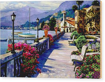 Seaside Pathway Wood Print by Ron Chambers