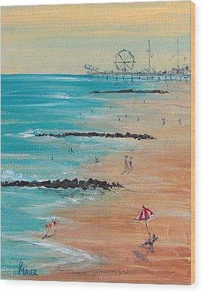 Seaside Wood Print by Pete Maier