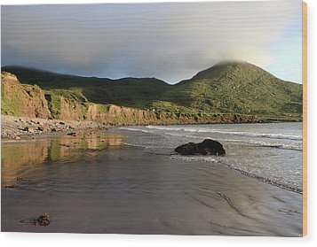 Seaside Reflections - County Kerry - Ireland Wood Print by Aidan Moran
