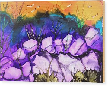Seaside Wood Print by Suzanne Canner