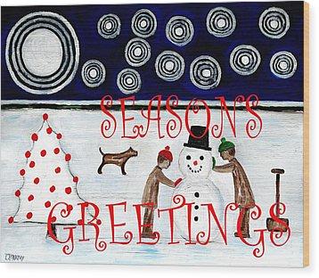 Seasons Greetings 14 Wood Print by Patrick J Murphy