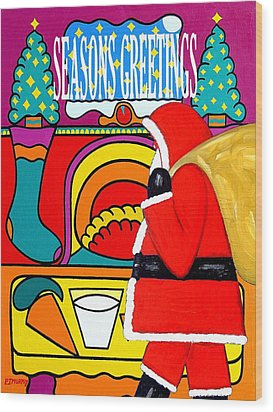 Seasons Greetings 16 Wood Print by Patrick J Murphy