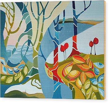 Seasons Of Creation Wood Print by Carola Ann-Margret Forsberg