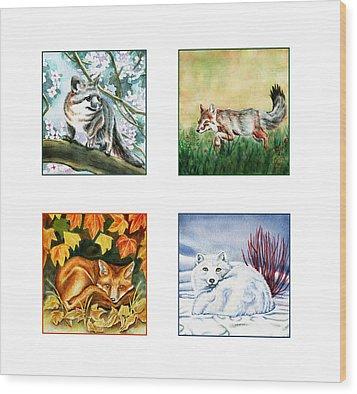 Seasons Of Fox Wood Print by Antony Galbraith
