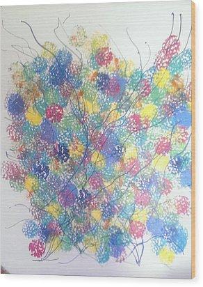 Seasponge Wood Print by Judi Goodwin
