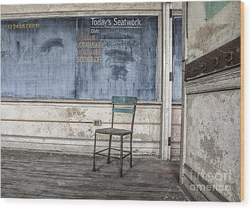 Seat Work Wood Print by Terry Rowe