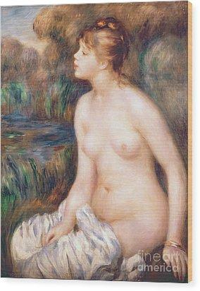 Seated Female Nude Wood Print by Renoir