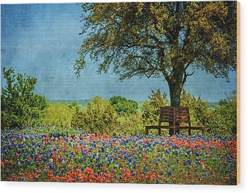 Wood Print featuring the photograph Seating For Two by Ken Smith
