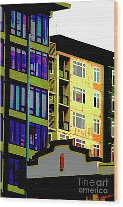Wood Print featuring the photograph Seattle Architecture by Yulia Kazansky