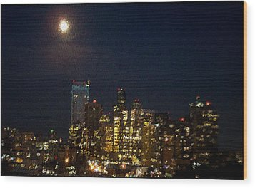 Seattle At Night Wood Print by James Johnstone