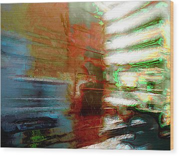Wood Print featuring the photograph Seattle By Train by Lori Seaman