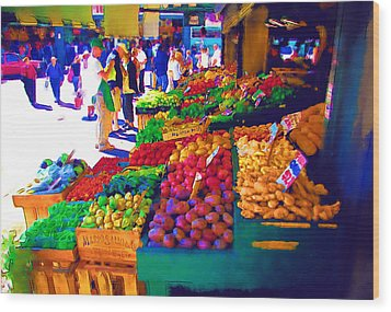 Seattle Farmers Market 2 Wood Print