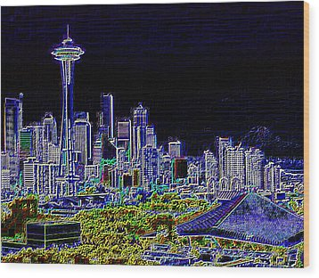 Seattle Quintessence Wood Print by Tim Allen
