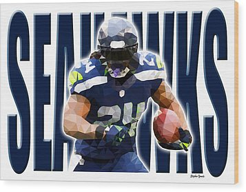 Wood Print featuring the digital art Seattle Seahawks by Stephen Younts