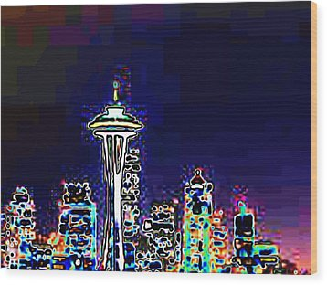Seattle Skyline Wood Print by Tim Allen