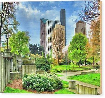 Seattle Spring Fine Art Print Wood Print by Greg Sigrist