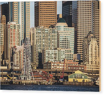 Seattle Waterfront Wood Print