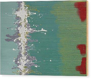 Seaweed Wood Print by Kate Tesch