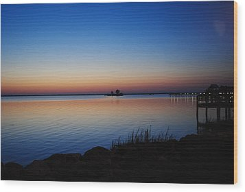 Wood Print featuring the photograph Sebastian Sunrise by Laura DAddona