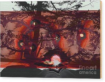Sechelt Sunset 5 Wood Print