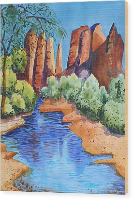 Secluded In Sedona Wood Print