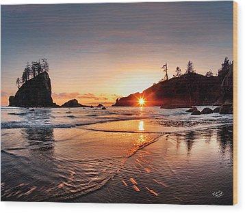 Second Beach 3 Wood Print by Leland D Howard